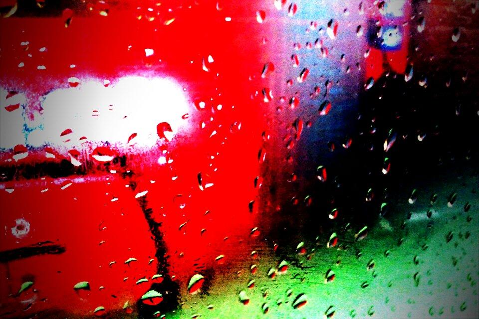rainy tram